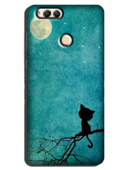 Moon cat Case for Honor 7A