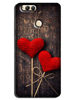 Red Hearts Case for Honor 7A