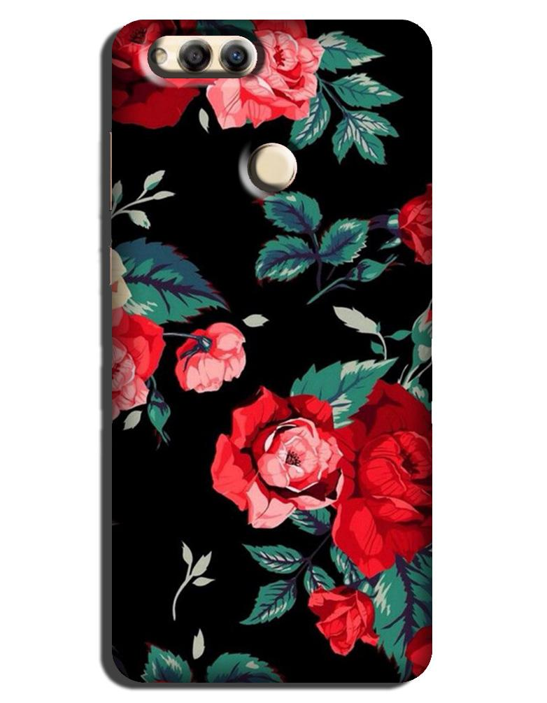 Red Rose Case for Honor 7X
