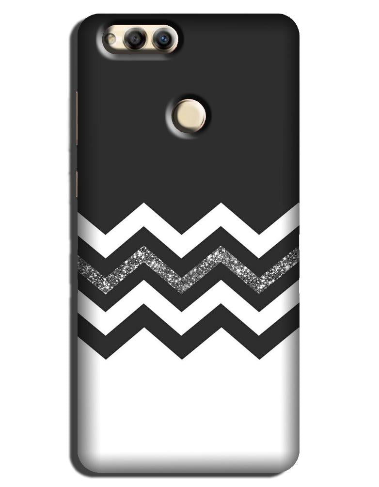 Black white Pattern Case for Honor 7A
