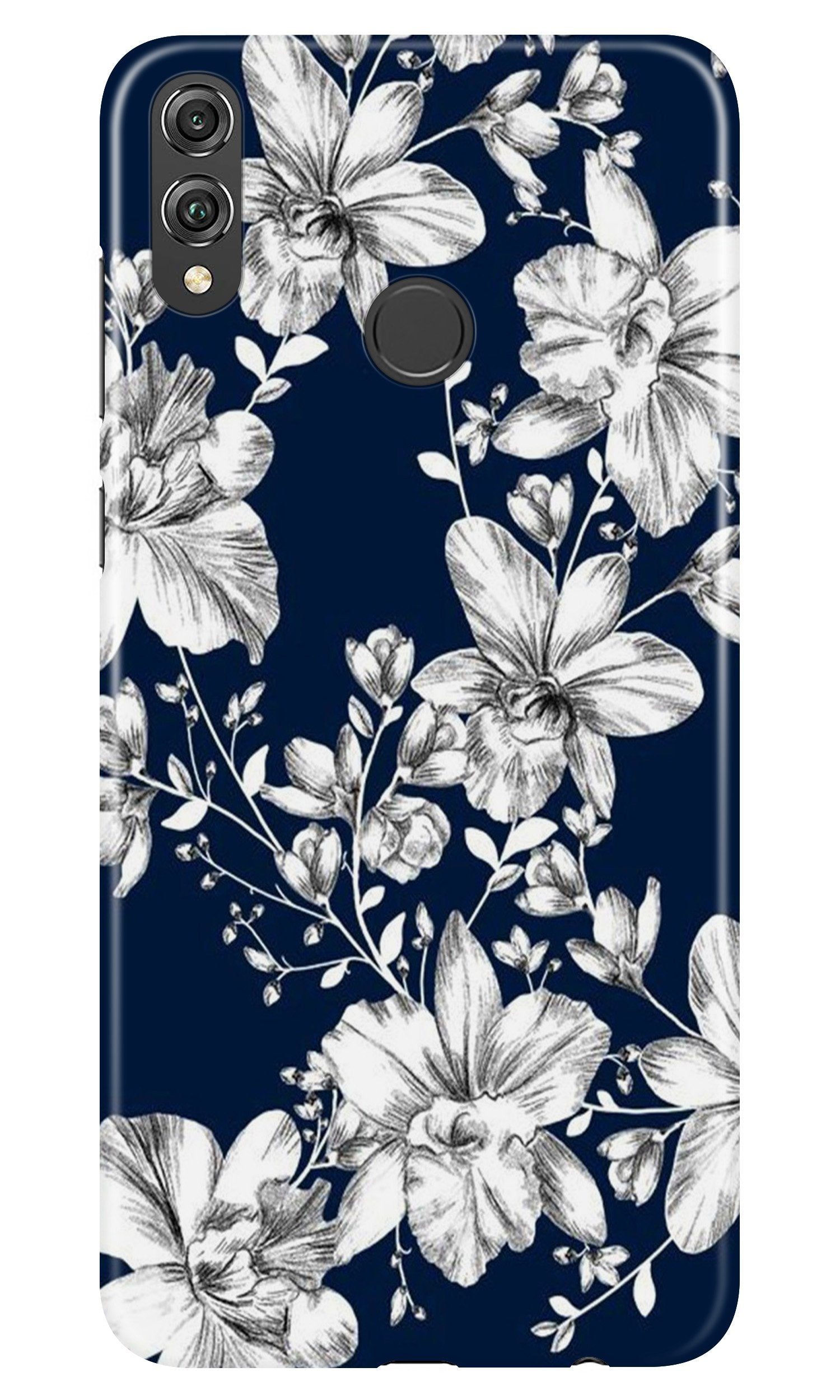 White flowers Blue Background Case for Honor Play