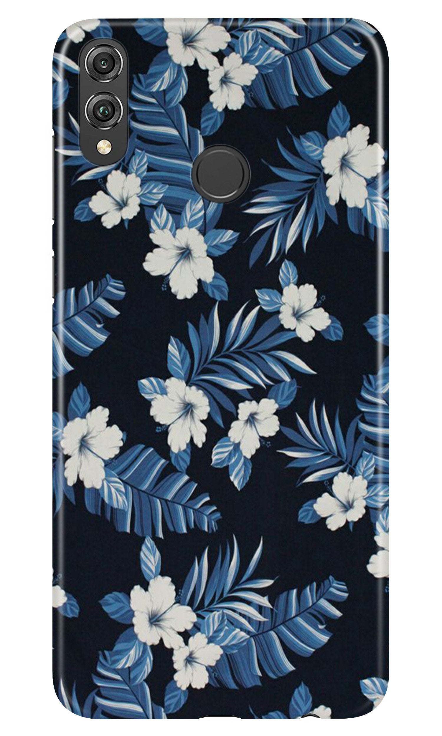 White flowers Blue Background2 Case for Honor Play