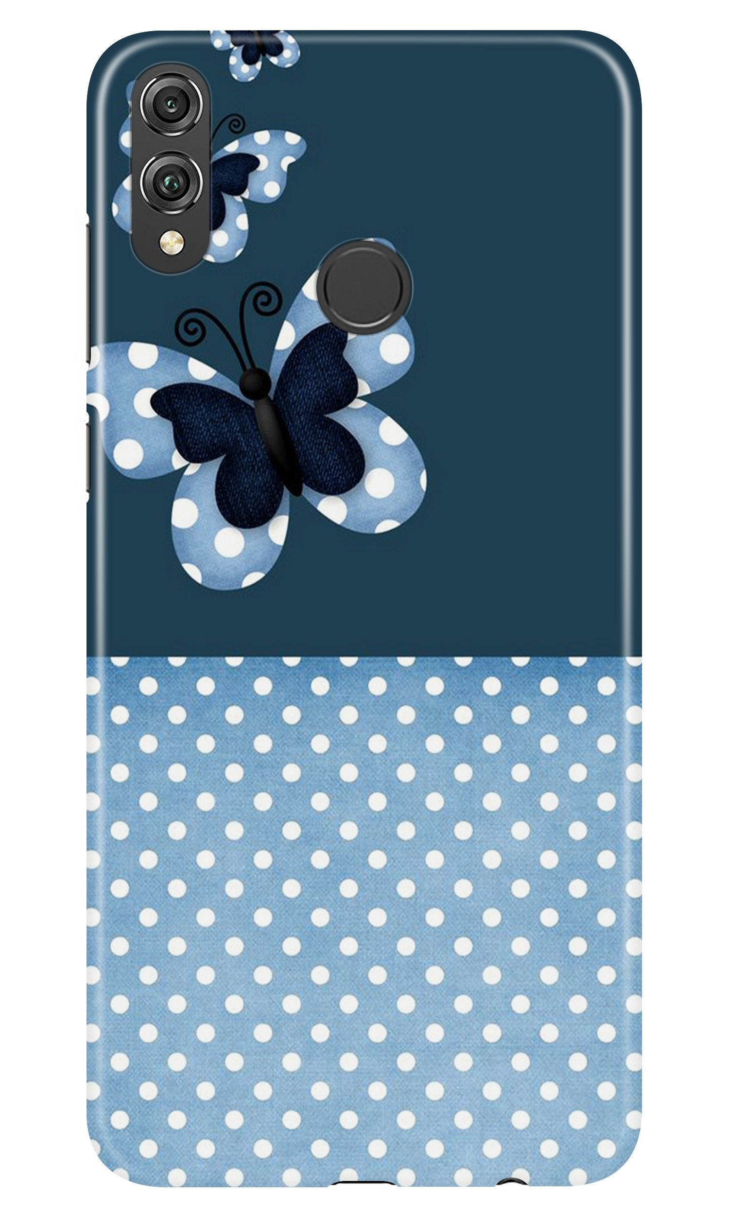 White dots Butterfly Case for Honor 8X