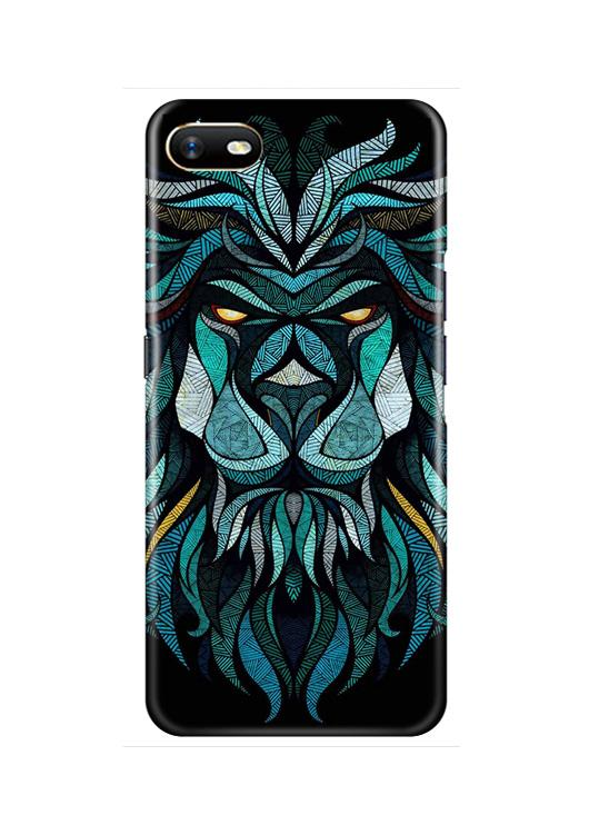 Lion Mobile Back Case for Oppo A1K  (Design - 314)