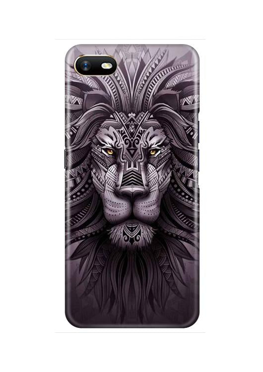 Lion Mobile Back Case for Oppo A1K  (Design - 315)