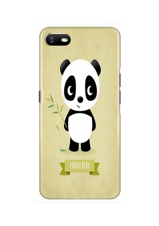 Panda Bear Mobile Back Case for Oppo A1K  (Design - 317)