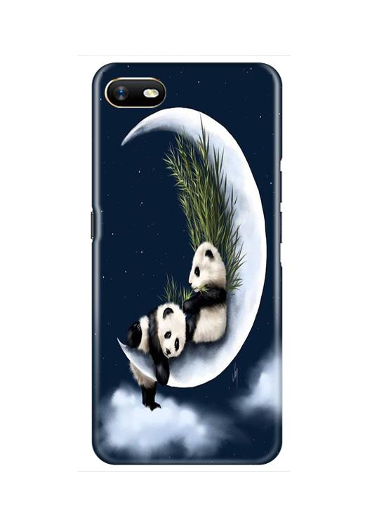 Panda Moon Mobile Back Case for Oppo A1K  (Design - 318)