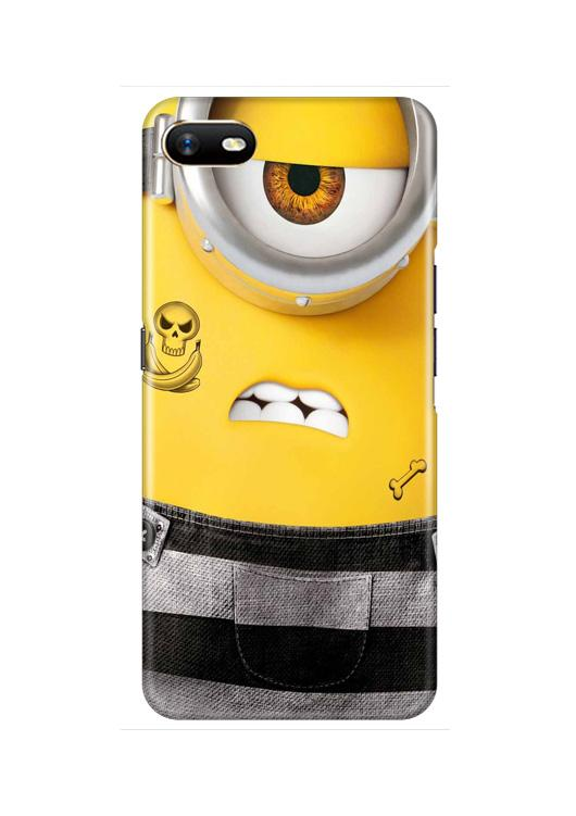 Minion Mobile Back Case for Oppo A1K  (Design - 324)