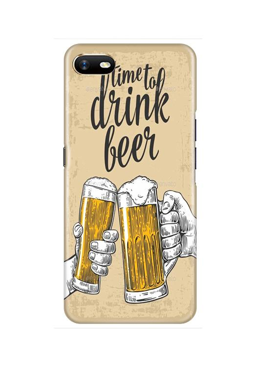 Drink Beer Mobile Back Case for Oppo A1K  (Design - 328)