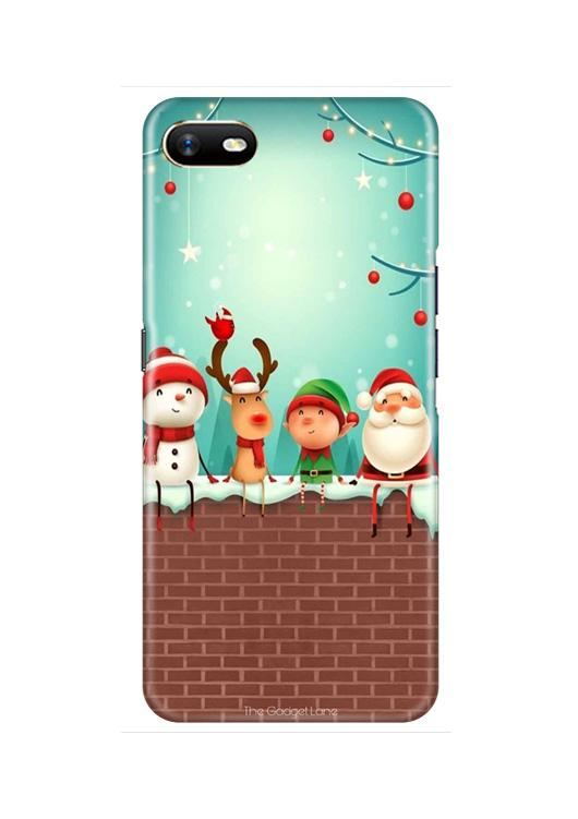 Santa Claus Mobile Back Case for Oppo A1K  (Design - 334)