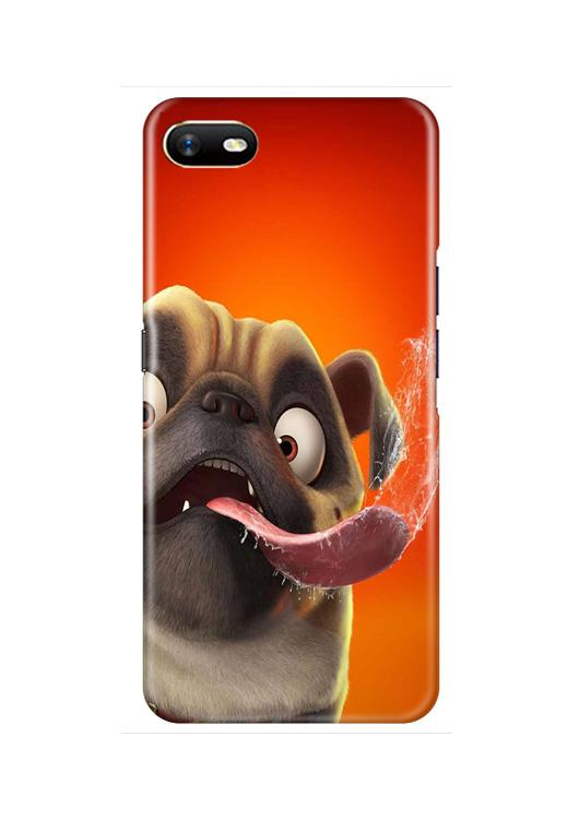 Dog Mobile Back Case for Oppo A1K  (Design - 343)