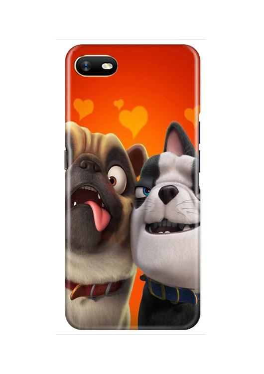 Dog Puppy Mobile Back Case for Oppo A1K  (Design - 350)