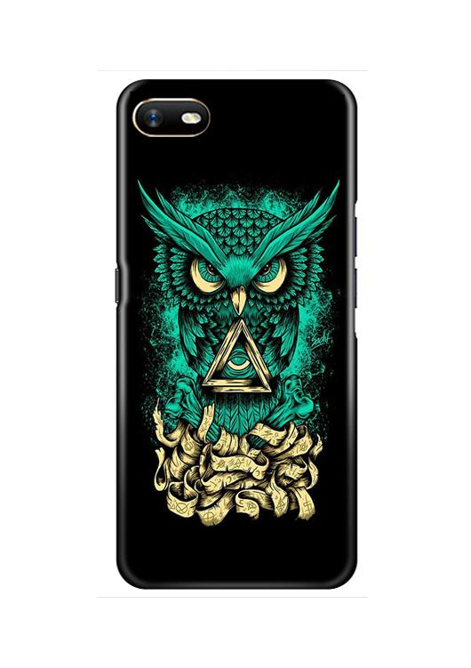Owl Mobile Back Case for Oppo A1K  (Design - 358)