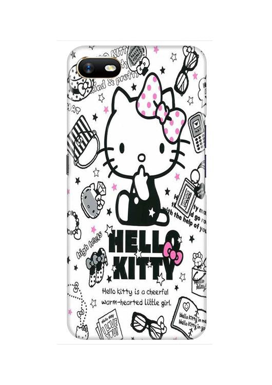 Hello Kitty Mobile Back Case for Oppo A1K  (Design - 361)