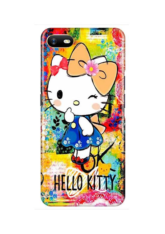 Hello Kitty Mobile Back Case for Oppo A1K  (Design - 362)