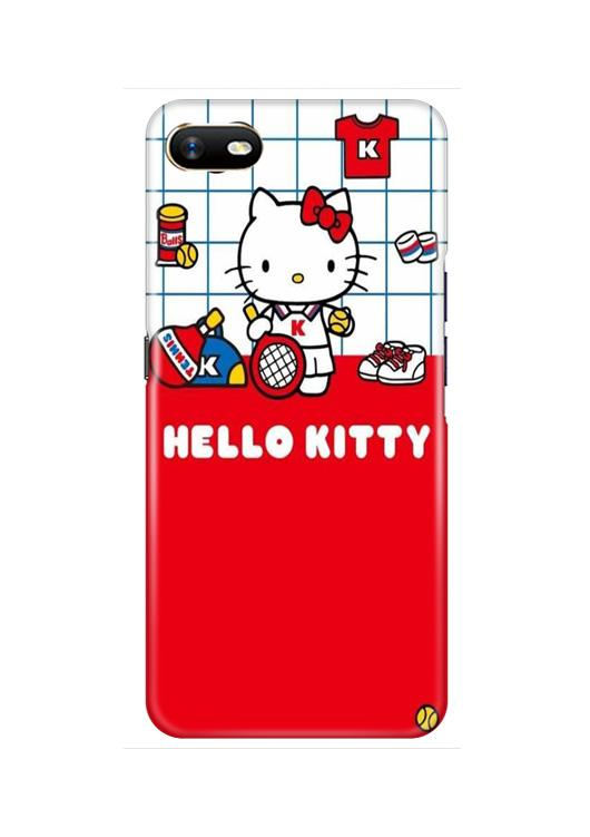 Hello Kitty Mobile Back Case for Oppo A1K  (Design - 363)