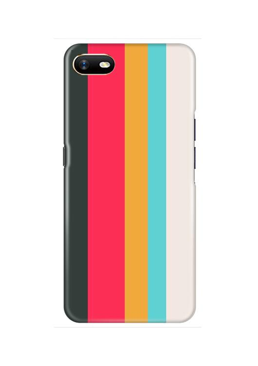 Color Pattern Mobile Back Case for Oppo A1K  (Design - 369)