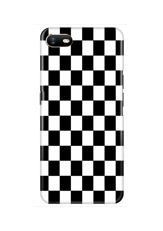 Black White Boxes Mobile Back Case for Oppo A1K  (Design - 372)