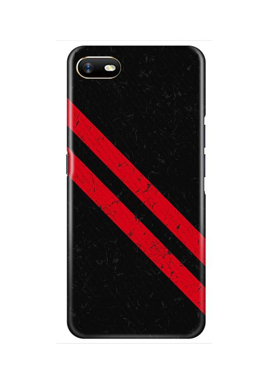 Black Red Pattern Mobile Back Case for Oppo A1K  (Design - 373)