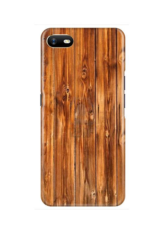 Wooden Texture Mobile Back Case for Oppo A1K  (Design - 376)