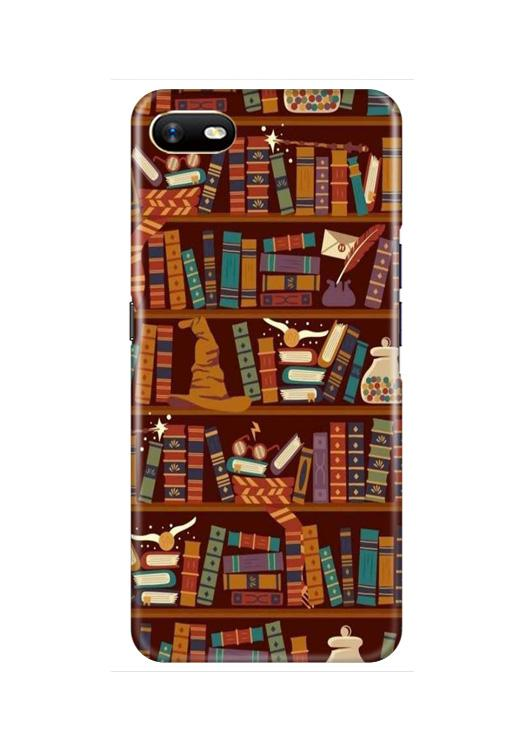 Book Shelf Mobile Back Case for Oppo A1K  (Design - 390)
