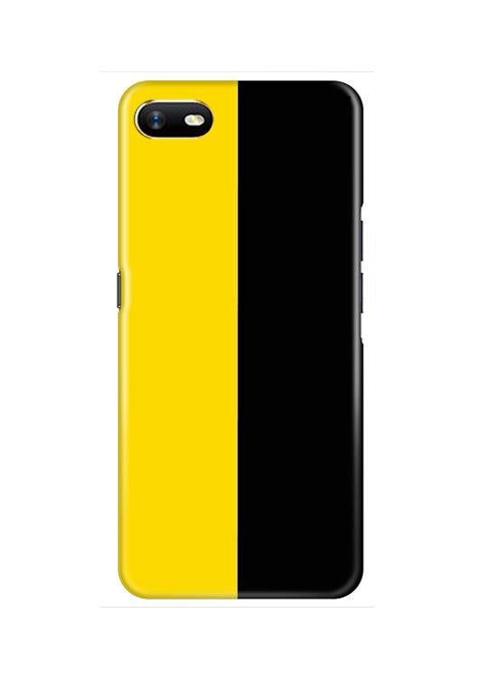 Black Yellow Pattern Mobile Back Case for Oppo A1K  (Design - 397)