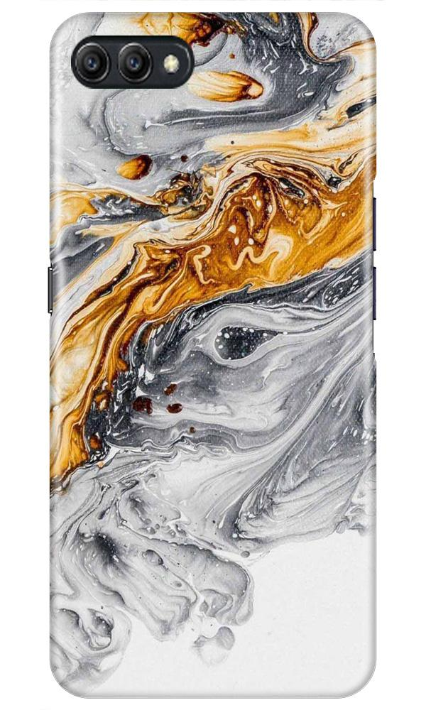 Marble Texture Mobile Back Case for Oppo A3s  (Design - 310)