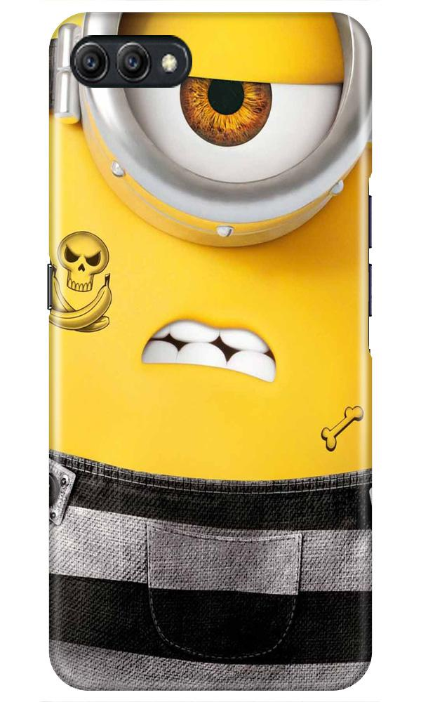 Minion Mobile Back Case for Oppo A3s  (Design - 324)