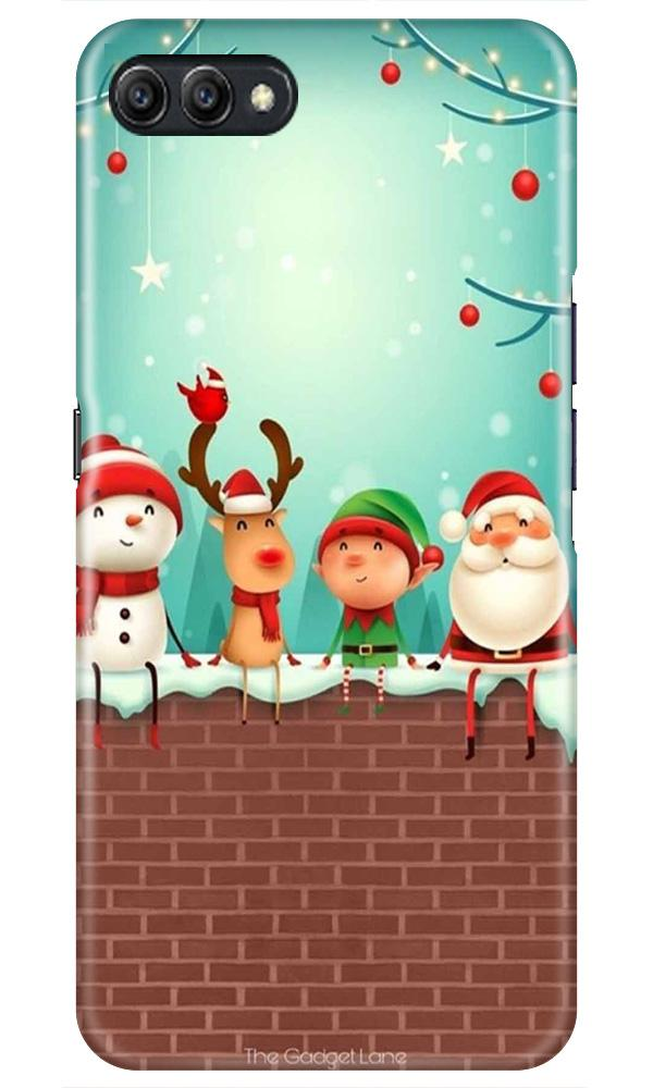 Santa Claus Mobile Back Case for Oppo A3s  (Design - 334)