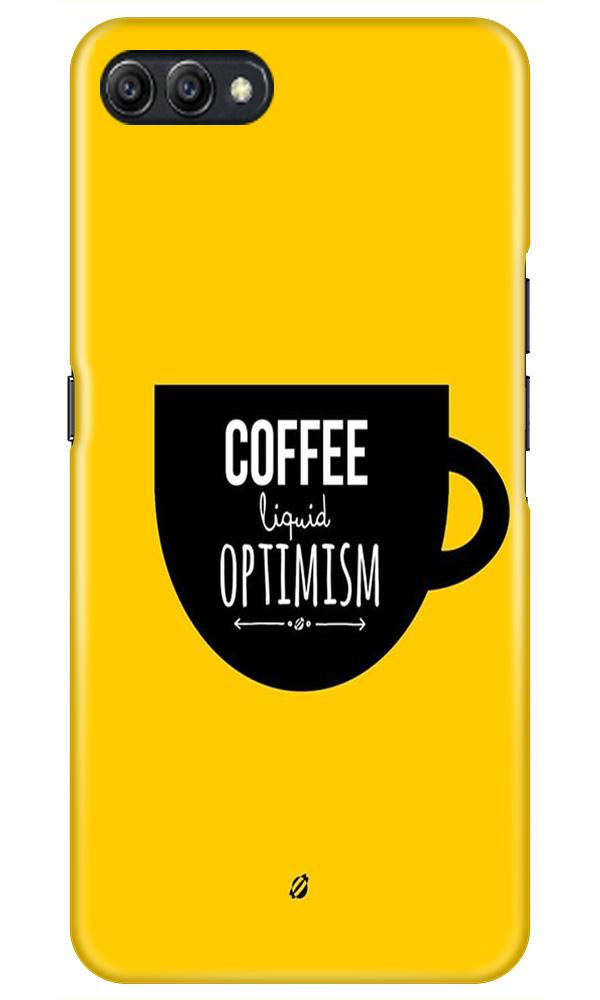 Coffee Optimism Mobile Back Case for Oppo A3s  (Design - 353)