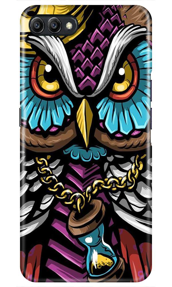 Owl Mobile Back Case for Oppo A3s  (Design - 359)