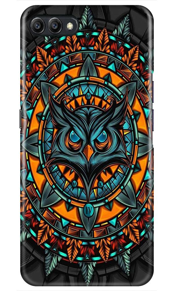 Owl Mobile Back Case for Oppo A3s  (Design - 360)