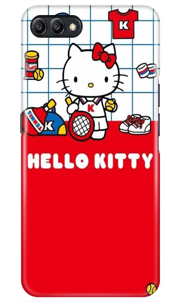 Hello Kitty Mobile Back Case for Oppo A3s  (Design - 363)