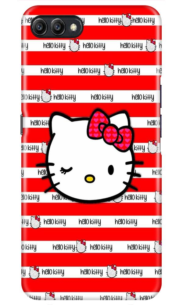 Hello Kitty Mobile Back Case for Oppo A3s  (Design - 364)
