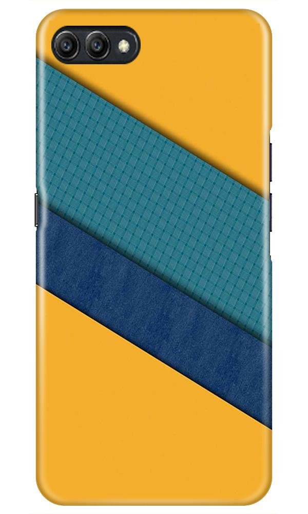 Diagonal Pattern Mobile Back Case for Oppo A3s  (Design - 370)