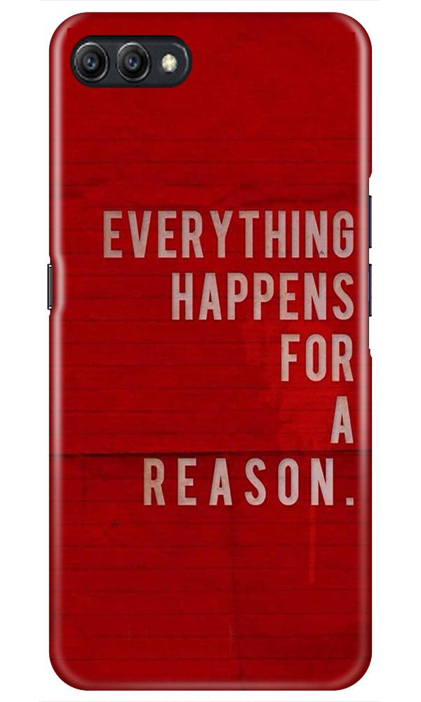 Everything Happens Reason Mobile Back Case for Oppo A3s  (Design - 378)