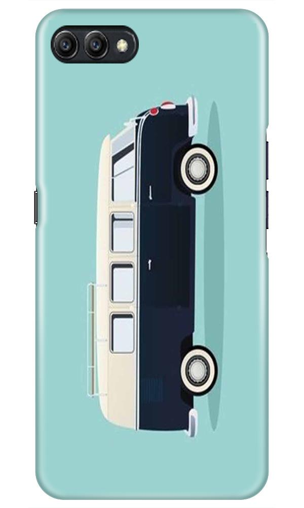 Travel Bus Mobile Back Case for Oppo A3s  (Design - 379)