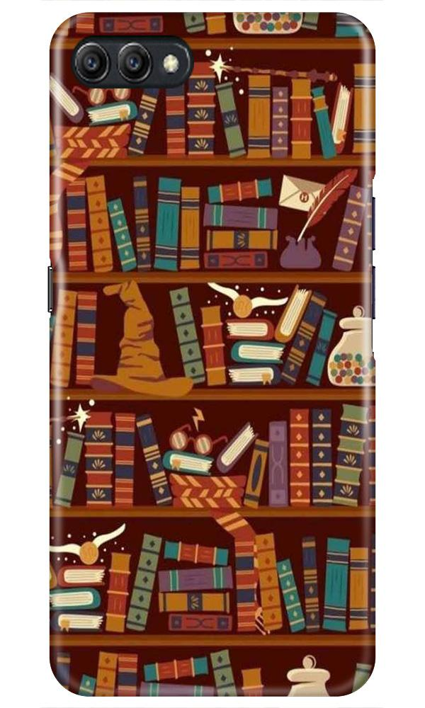 Book Shelf Mobile Back Case for Oppo A3s  (Design - 390)