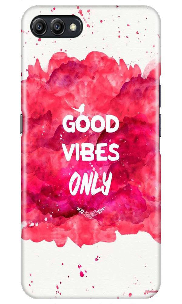 Good Vibes Only Mobile Back Case for Oppo A3s  (Design - 393)