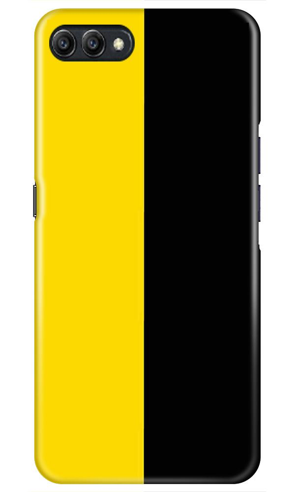 Black Yellow Pattern Mobile Back Case for Oppo A3s  (Design - 397)