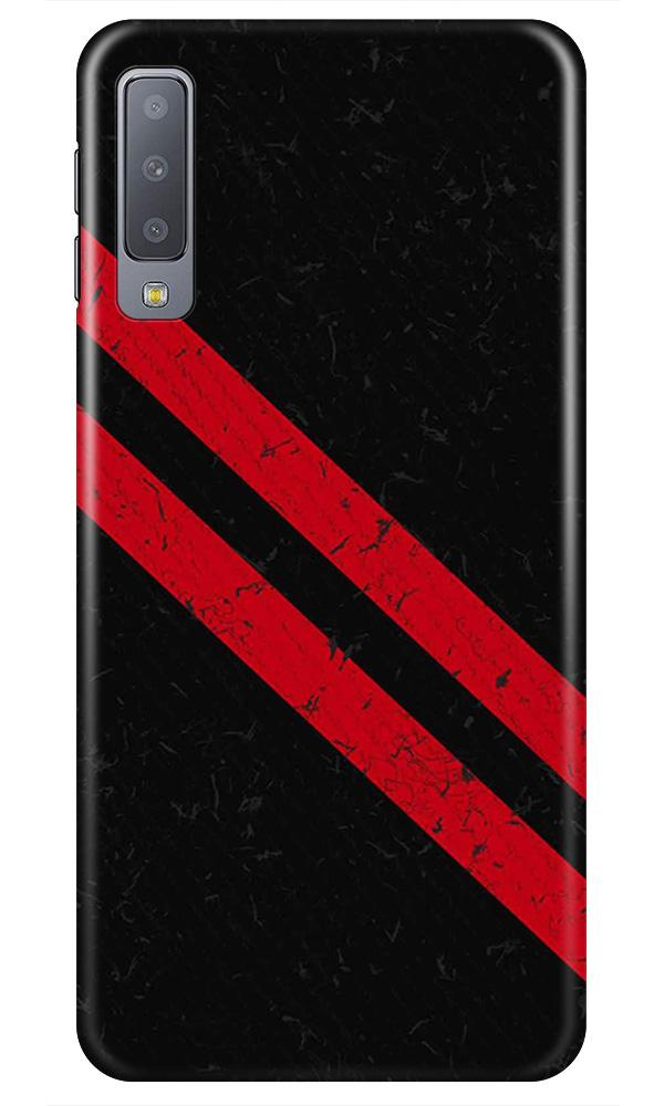 Black Red Pattern Mobile Back Case for Samsung Galaxy A50s  (Design - 373)