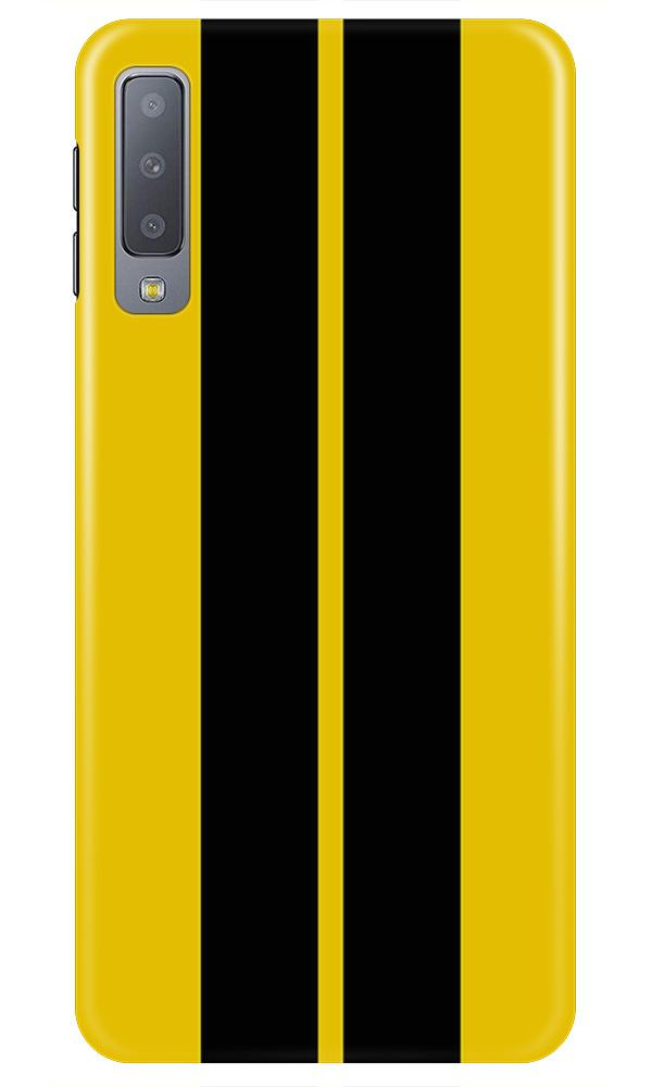 Black Yellow Pattern Mobile Back Case for Samsung A50 (Design - 377)