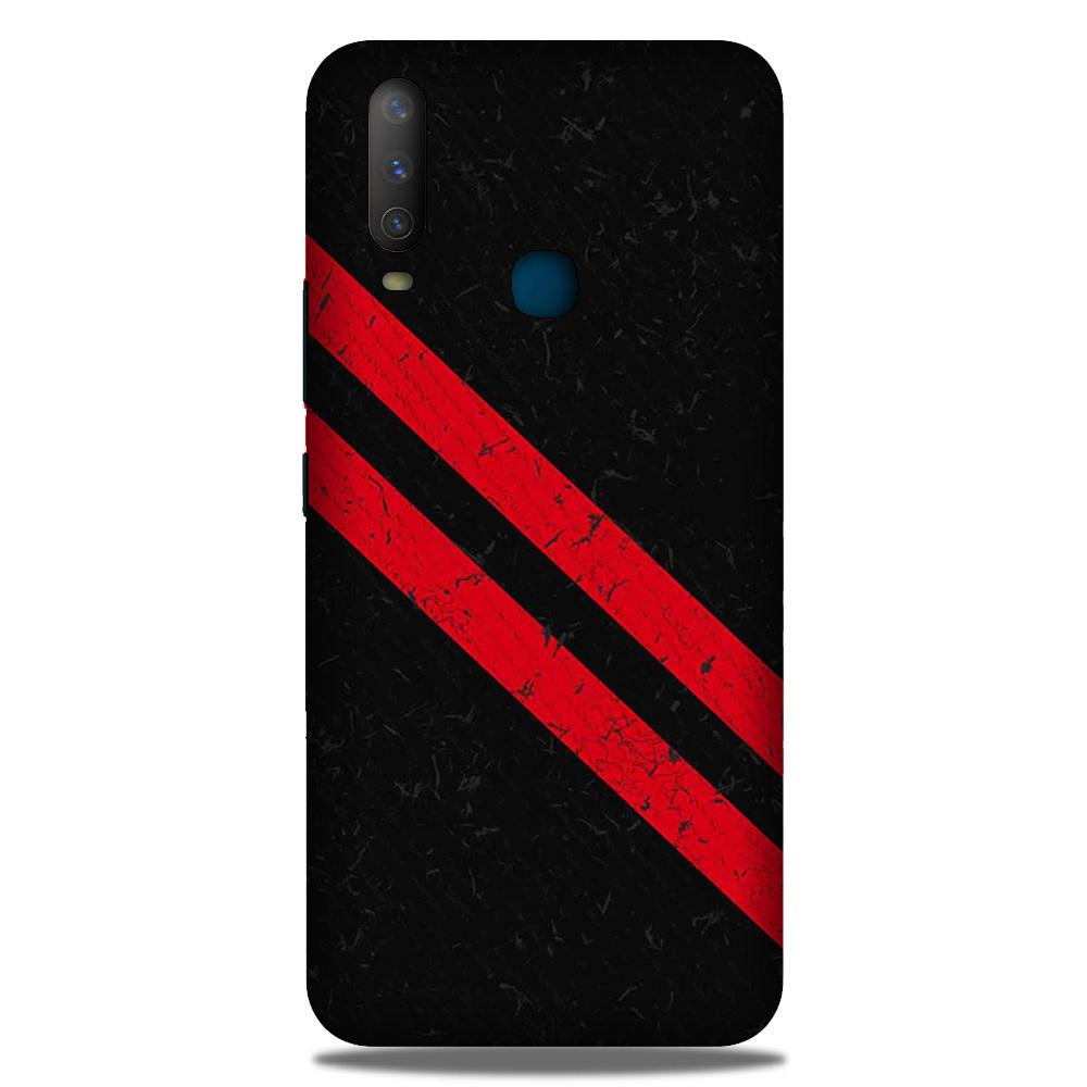 Black Red Pattern Mobile Back Case for Samsung Galaxy M30 (Design - 373)