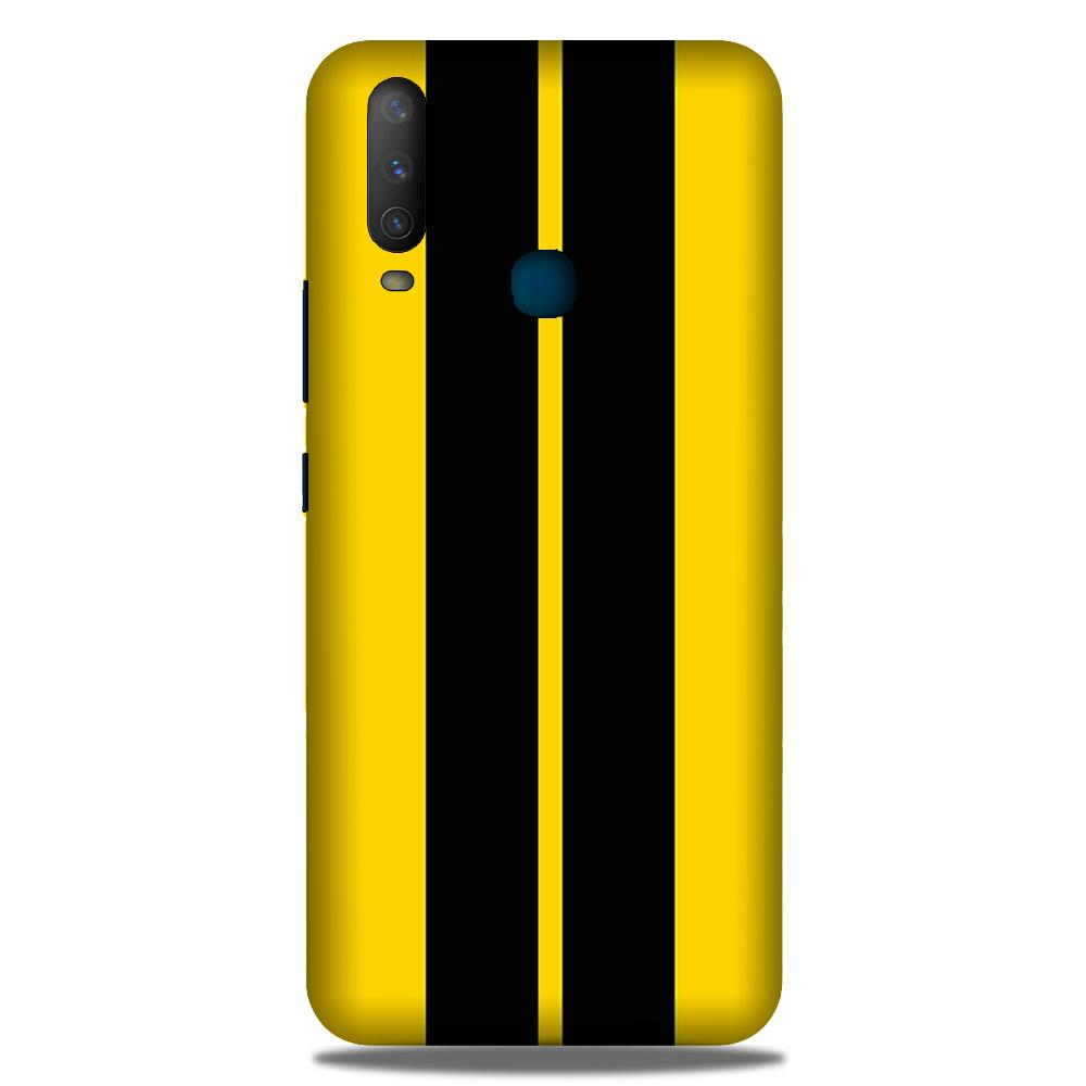 Black Yellow Pattern Mobile Back Case for Samsung Galaxy M30 (Design - 377)