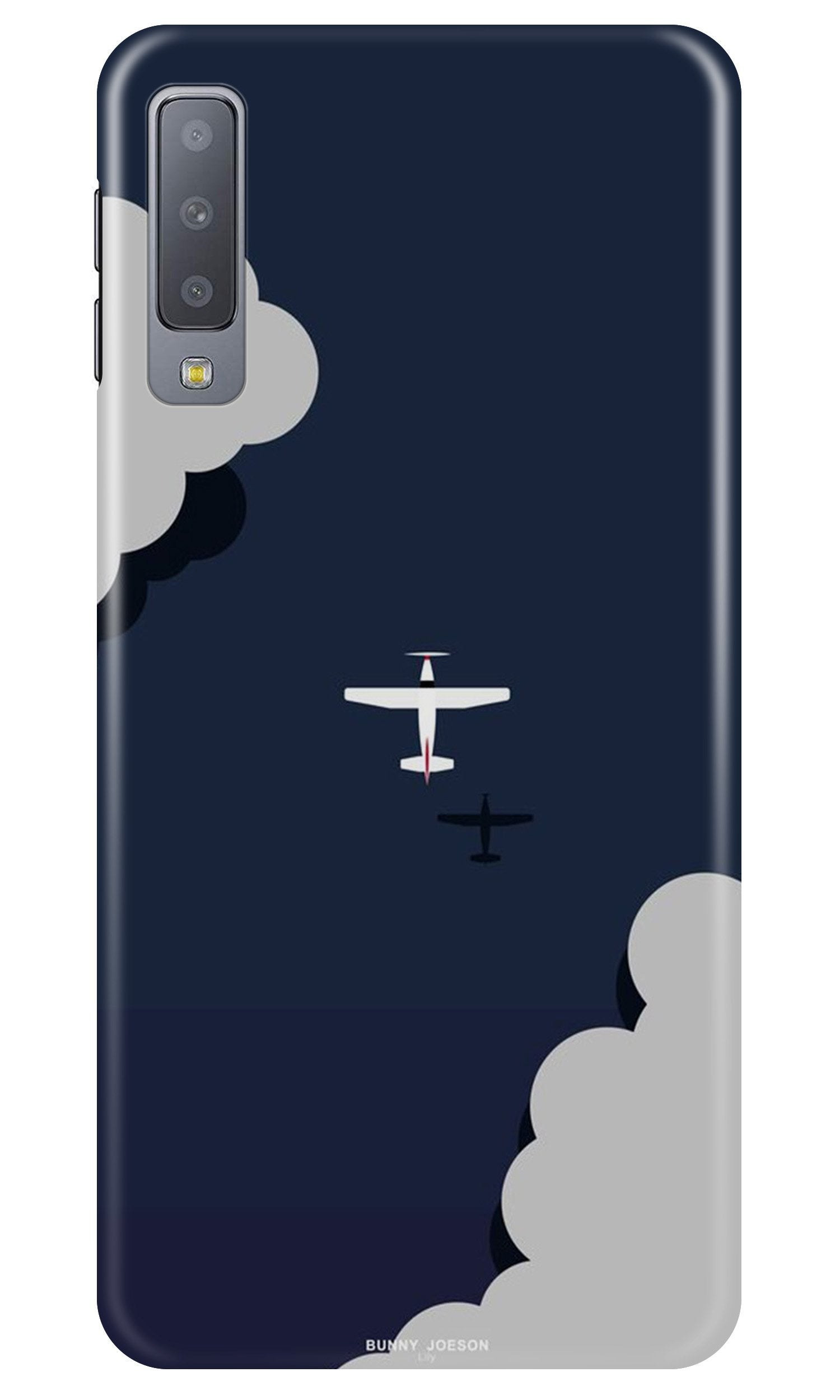 Clouds Plane Case for Samsung A50 (Design - 196)