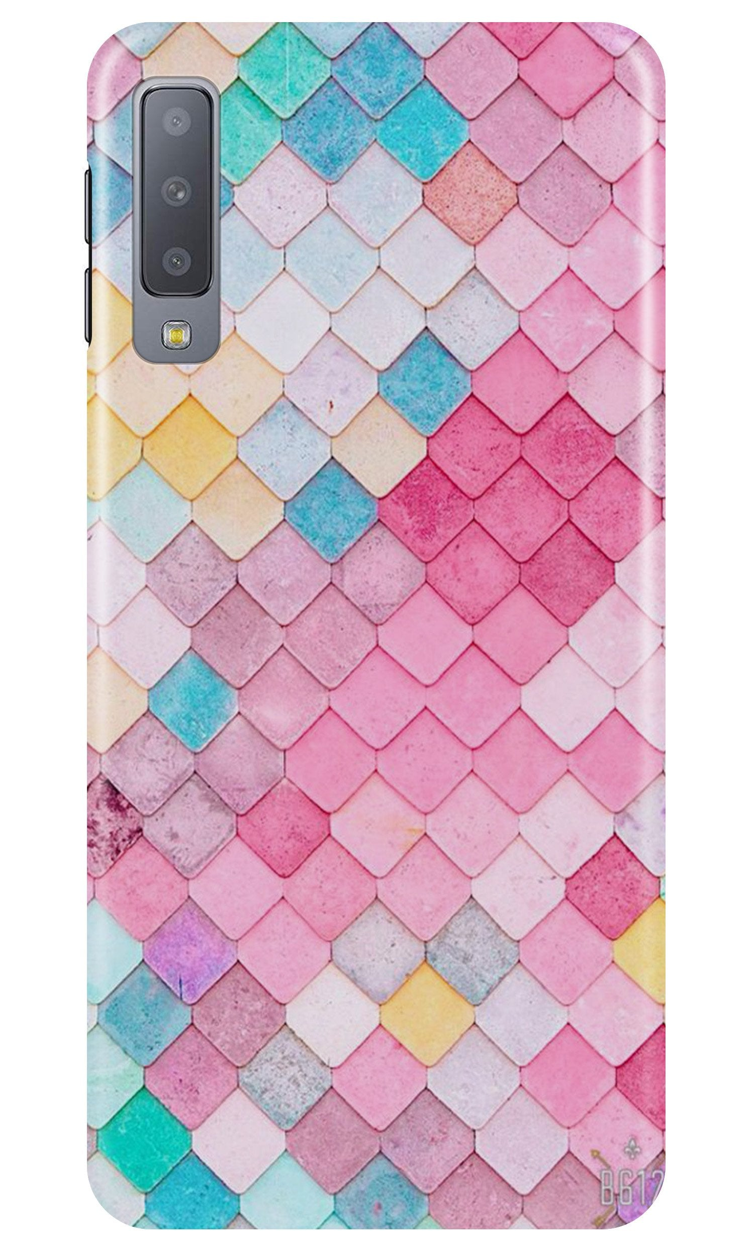 Pink Pattern Case for Samsung Galaxy A70 (Design No. 215)