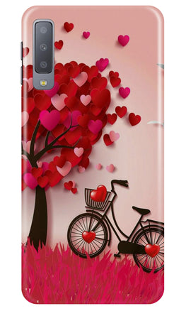 Red Heart Cycle Case for Samsung Galaxy A70 (Design No. 222)