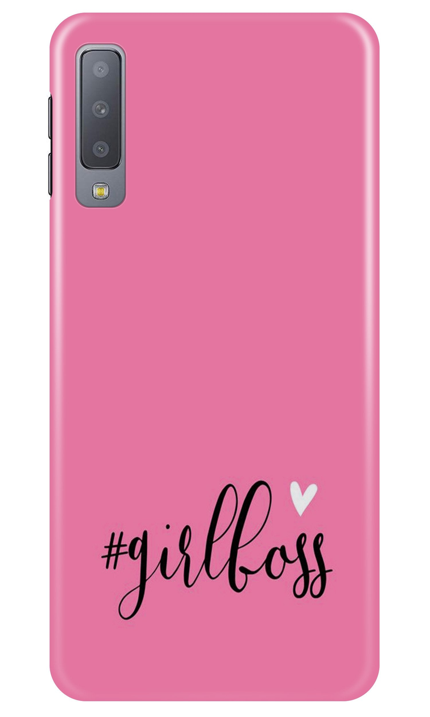 Girl Boss Pink Case for Samsung Galaxy A7 2018 (Design No. 269)