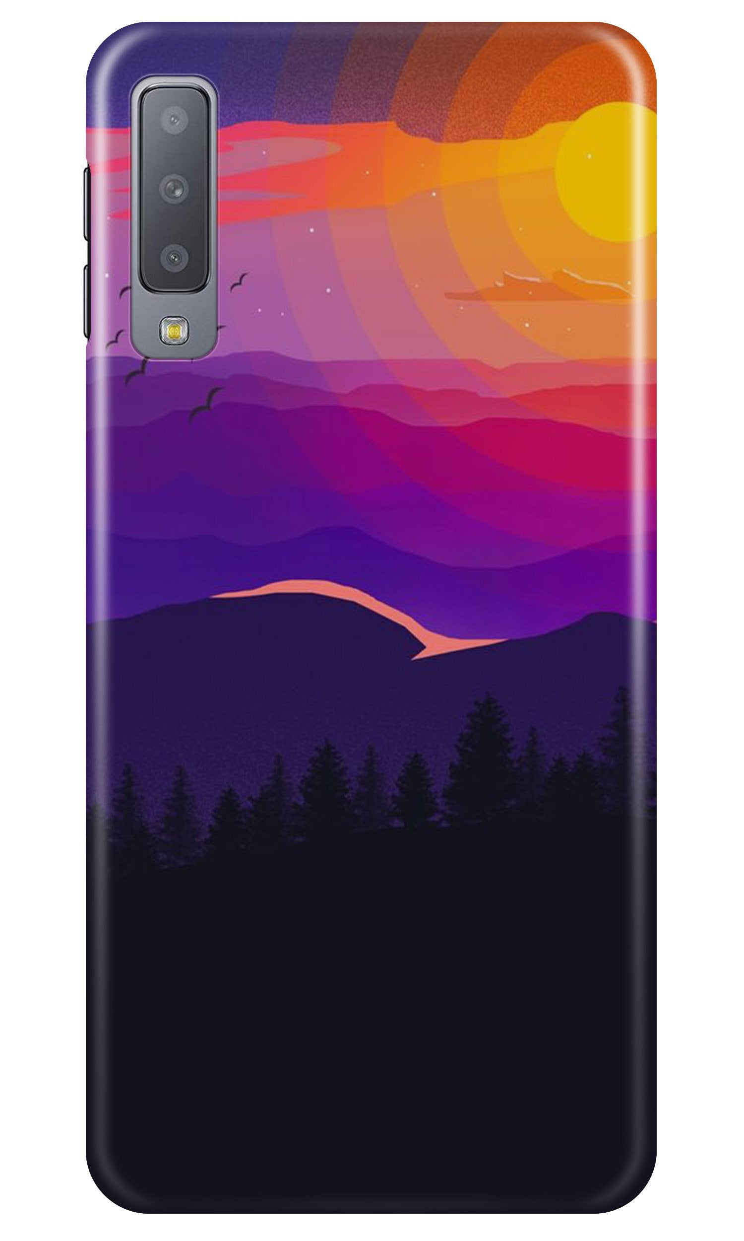 Sun Set Case for Samsung Galaxy A7 2018 (Design No. 279)