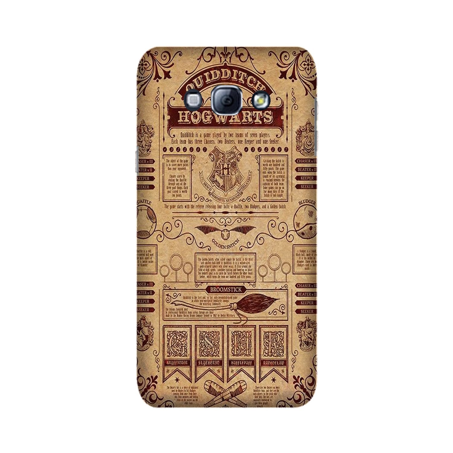 Hogwarts Mobile Back Case for Galaxy A8 (2015)  (Design - 304)